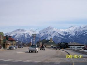 Main drag in Jasper, AB