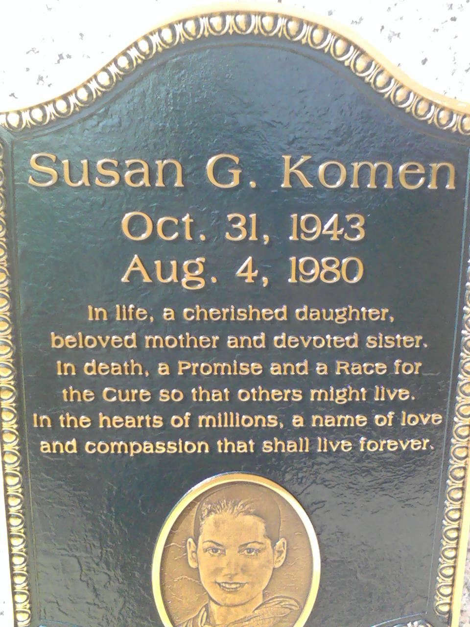 susan g komen Komen cars is the official susan g komen for the cure breast cancer car  donation program for the participating 80 plus komen affiliates from all over the.